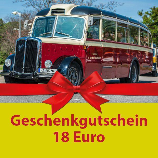 Geschenkgutschein Wert 18 Euro