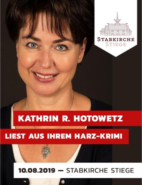 Sonderfahrt Autorenlesung Harz Krimi mit Kathrin Hotowetz am 10.08.2019